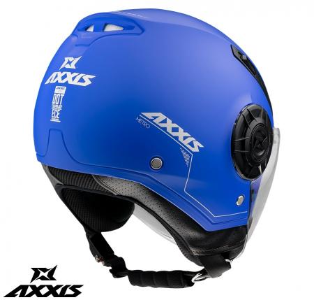 Casca Axxis model Metro A7 albastru mat (open face) [2]