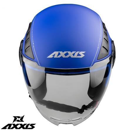 Casca Axxis model Metro A7 albastru mat (open face) [1]