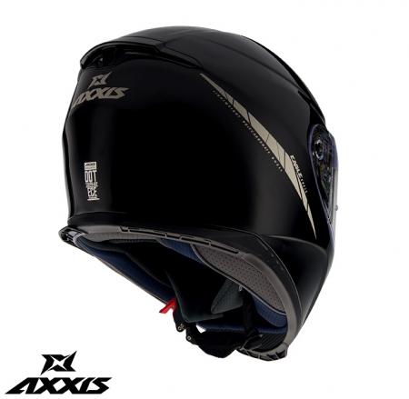 Casca integrala Axxis model Eagle SV A1 negru lucios (ochelari soare integrati) [1]