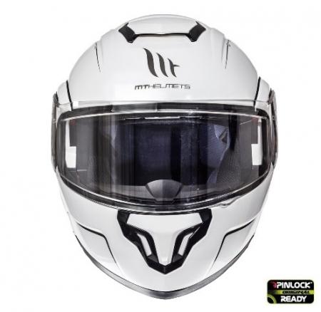 Casca integrala modulabila motociclete MT Atom SV alb lucios Pinlock ready [1]