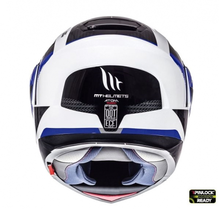 Casca integrala modulabila motociclete MT Atom SV Tarmac alb/albastru/negru lucios Pinlock ready [2]