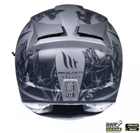 Casca integrala motociclete MT Blade 2 SV Breeze E2 gri mat (ochelari soare integrati) [3]
