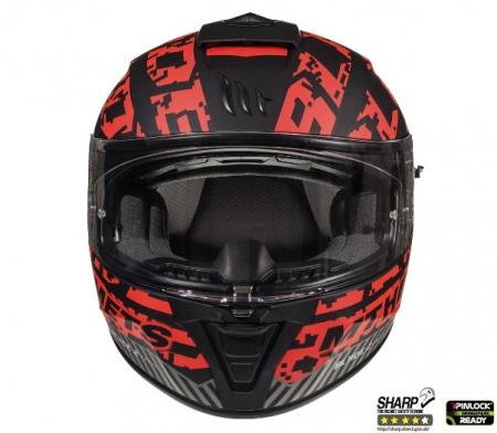 Casca integrala motociclete MT Blade 2 SV Check B5 rosu mat (ochelari soare integrati) [2]