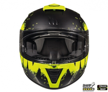 Casca integrala motociclete MT Blade 2 SV Oberon B3 galben fluor mat (ochelari soare integrati) [2]