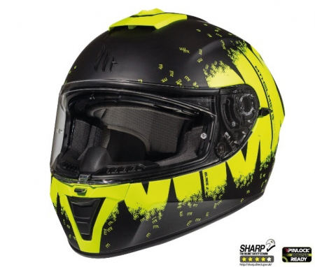 Casca integrala motociclete MT Blade 2 SV Oberon B3 galben fluor mat (ochelari soare integrati) [1]