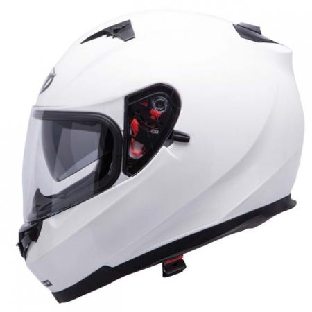Casca integrala motociclete MT Blade SV alb lucios (ochelari soare integrati) [0]