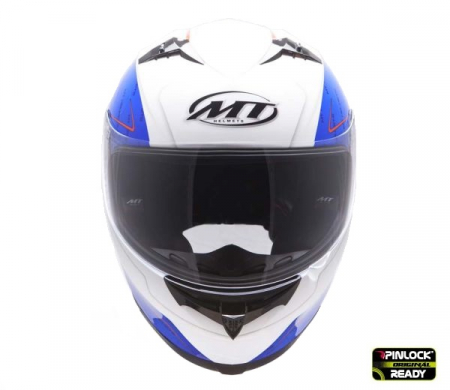 Casca integrala motociclete MT Blade SV Boss alb/albastru lucios (ochelari soare integrati) [1]