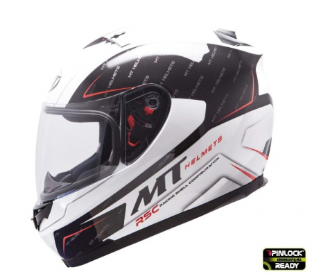 Casca integrala motociclete MT Blade SV Boss alb/negru lucios (ochelari soare integrati) [0]