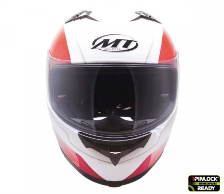 Casca integrala motociclete MT Blade SV Boss alb/rosu lucios (ochelari soare integrati) [2]