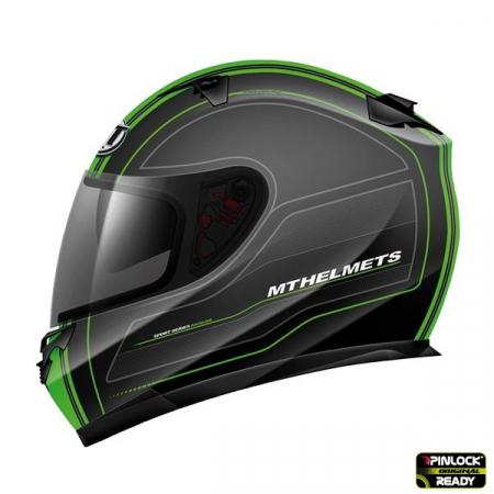 Casca integrala motociclete MT Blade SV Raceline negru/verde fluor mat (ochelari soare integrati) [0]