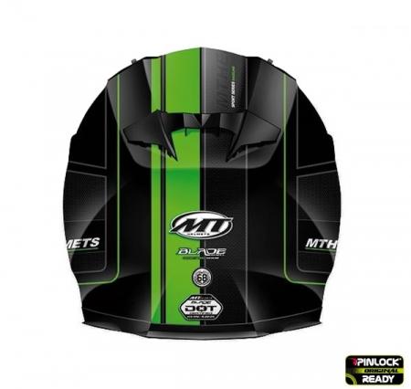 Casca integrala motociclete MT Blade SV Raceline negru/verde fluor mat (ochelari soare integrati) [1]