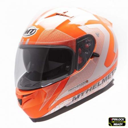 Casca integrala motociclete MT Blade SV Reflexion portocaliu fluor (ochelari soare integrati) [1]