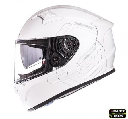Casca integrala motociclete MT KRE alb lucios (fibra sticla) – cu ochelari soare integrati [0]