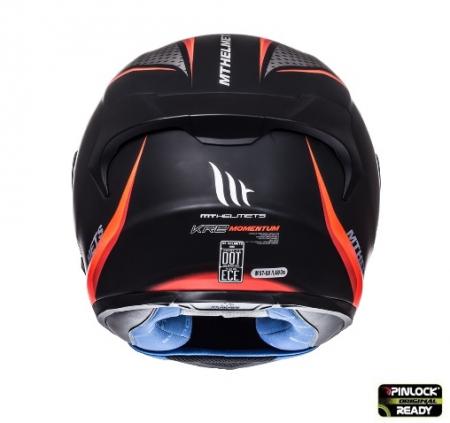 Casca integrala motociclete MT KRE SV Momentum negru/titanium/rosu intens mat (fibra sticla) – cu ochelari soare integrati [2]