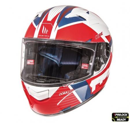 Casca integrala motociclete MT KRE SV RAD alb/rosu/albastru lucios (fibra sticla) – cu ochelari soare integrati [3]