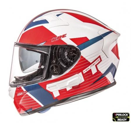 Casca integrala motociclete MT KRE SV RAD alb/rosu/albastru lucios (fibra sticla) – cu ochelari soare integrati [0]