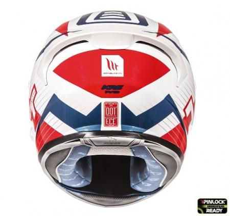 Casca integrala motociclete MT KRE SV RAD alb/rosu/albastru lucios (fibra sticla) – cu ochelari soare integrati [2]