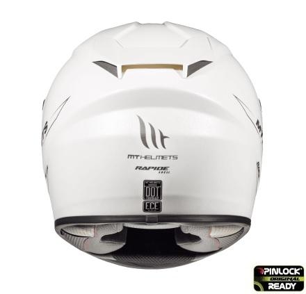 Casca integrala motociclete MT Rapide A0 alb lucios (fibra sticla) [3]