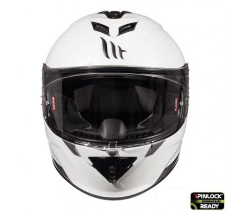 Casca integrala motociclete MT Rapide A0 alb lucios (fibra sticla) [2]