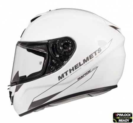 Casca integrala motociclete MT Rapide A0 alb lucios (fibra sticla) [0]