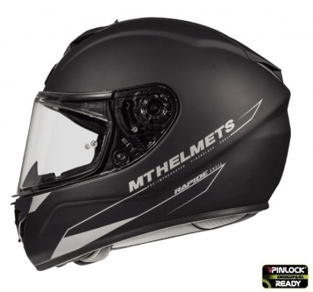 Casca integrala motociclete MT Rapide A1 negru mat (fibra sticla) [0]