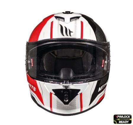 Casca integrala motociclete MT Rapide Duel D1 rosu/alb/negru luicos (fibra sticla) [2]