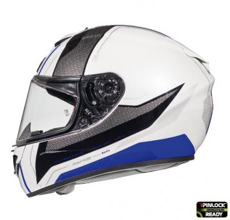 Casca integrala motociclete MT Rapide Duel D5 albastru/alb/negru lucios (fibra sticla) [0]