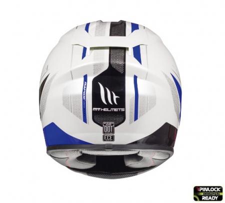 Casca integrala motociclete MT Rapide Duel D5 albastru/alb/negru lucios (fibra sticla) [3]