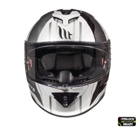 Casca integrala motociclete MT Rapide Duel D7 argintiu/alb/negru lucios (fibra sticla) [2]