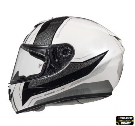 Casca integrala motociclete MT Rapide Duel D7 argintiu/alb/negru lucios (fibra sticla) [0]