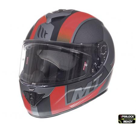 Casca integrala motociclete MT Rapide Overtake B1 rosu/negru mat (fibra sticla) [1]