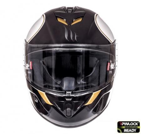 Casca integrala motociclete MT Rapide Revival B1 alb/negru lucios (fibra sticla) [2]