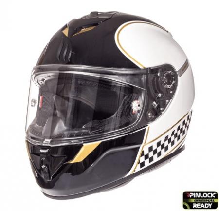 Casca integrala motociclete MT Rapide Revival B1 alb/negru lucios (fibra sticla) [1]