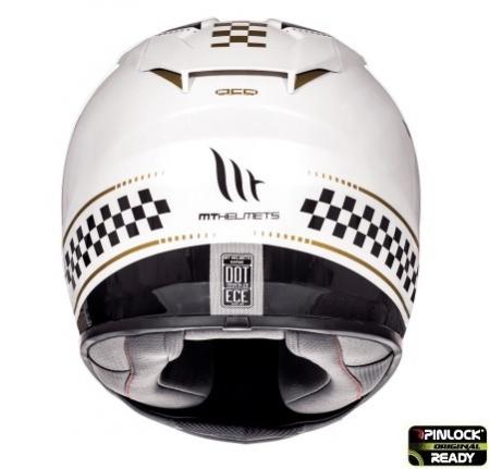 Casca integrala motociclete MT Rapide Revival B1 alb/negru lucios (fibra sticla) [3]
