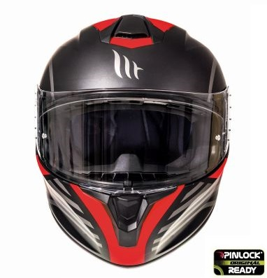 Casca integrala motociclete MT Targo Doppler A0 rosu fluor/negru mat [2]