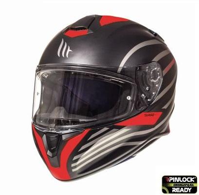Casca integrala motociclete MT Targo Doppler A0 rosu fluor/negru mat [1]