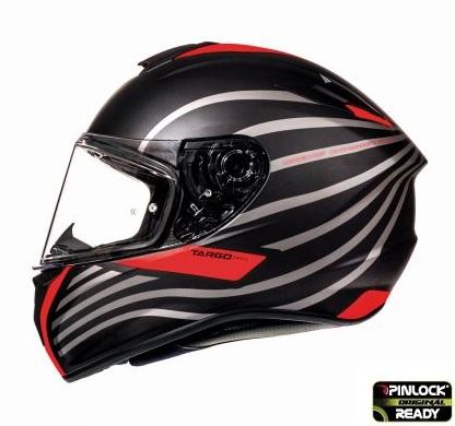 Casca integrala motociclete MT Targo Doppler A0 rosu fluor/negru mat [0]
