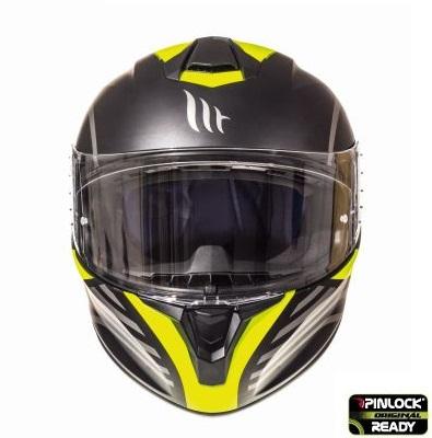 Casca integrala motociclete MT Targo Doppler A1 galben fluor/negru mat [2]