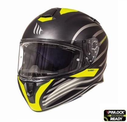 Casca integrala motociclete MT Targo Doppler A1 galben fluor/negru mat [1]