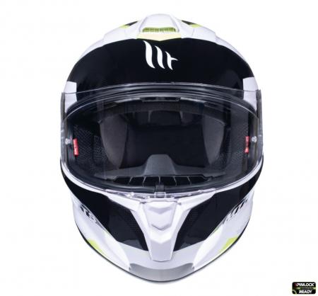 Casca integrala motociclete MT Targo Enjoy D3 galben fluor/alb/negru lucios [2]