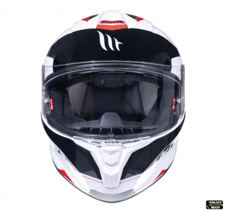 Casca integrala motociclete MT Targo Enjoy D5 rosu/alb/negru lucios [2]