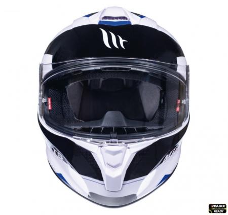 Casca integrala motociclete MT Targo Enjoy D7 albastru/alb/negru lucios [2]