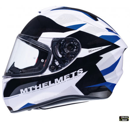 Casca integrala motociclete MT Targo Enjoy D7 albastru/alb/negru lucios [0]
