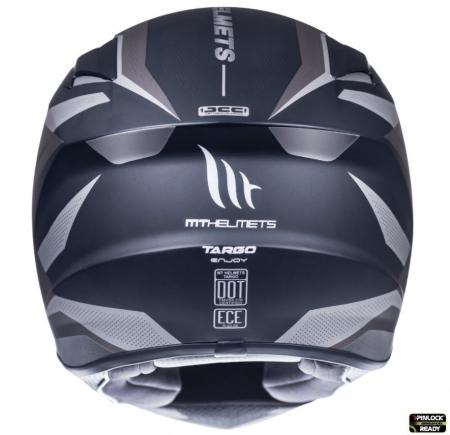 Casca integrala motociclete MT Targo Enjoy E2 gri/negru mat [3]