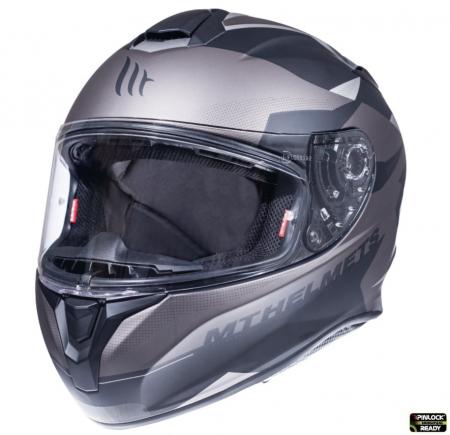 Casca integrala motociclete MT Targo Enjoy E2 gri/negru mat [1]