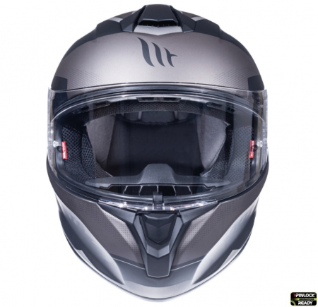 Casca integrala motociclete MT Targo Enjoy E2 gri/negru mat [2]