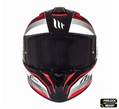 Casca integrala motociclete MT Targo Interact A1 rosu/alb/negru lucios [2]