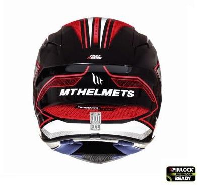 Casca integrala motociclete MT Targo Interact A1 rosu/alb/negru lucios [3]