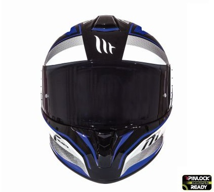 Casca integrala motociclete MT Targo Interact A6 albastru/alb/negru lucios [2]