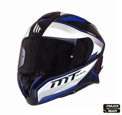 Casca integrala motociclete MT Targo Interact A6 albastru/alb/negru lucios [1]